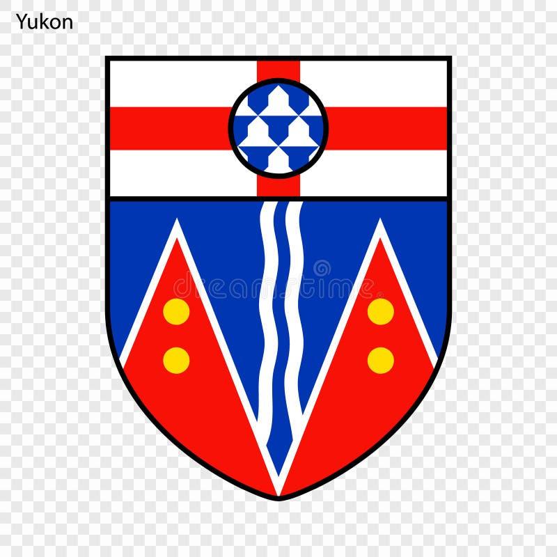 Yukon Coat Of Arms, Canada  Stock Illustration