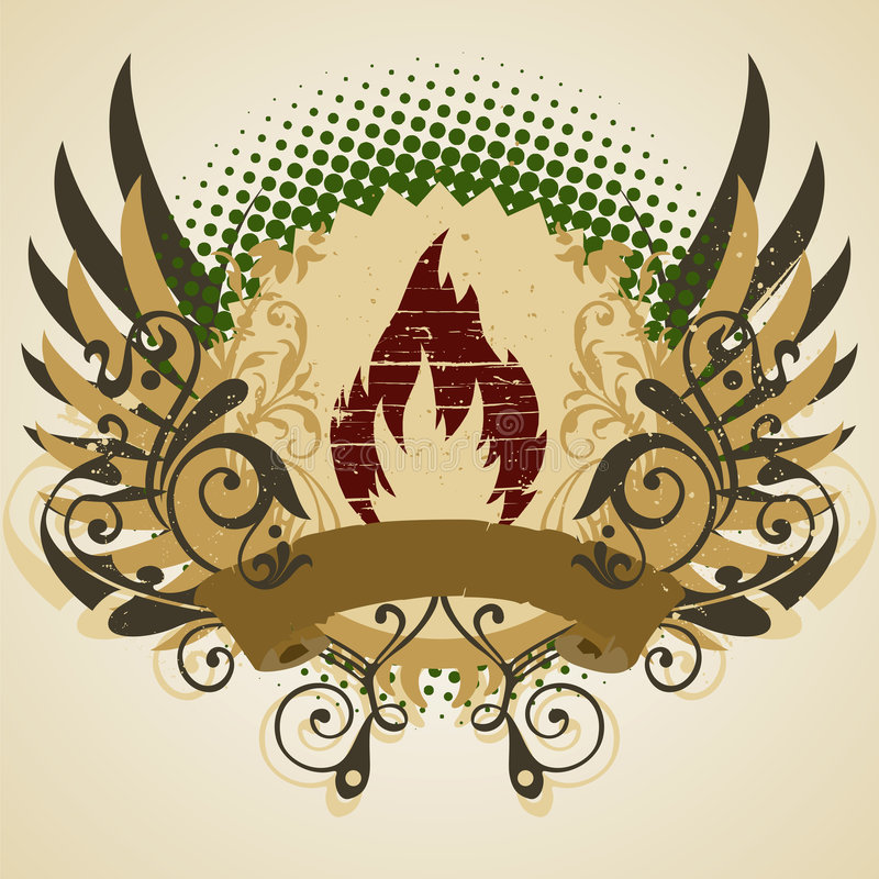 Emblema ilustração do vetor