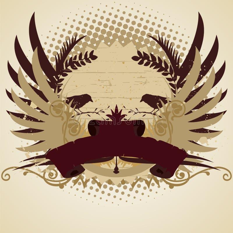 Emblema illustrazione vettoriale