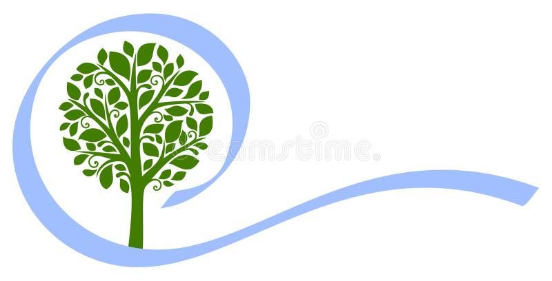 Emblema 5 del árbol del vector stock de ilustración
