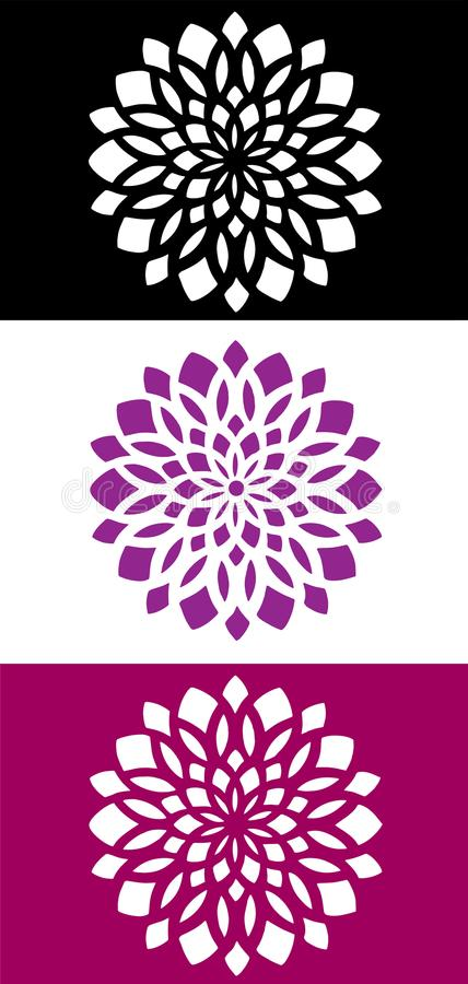 Emblema abstracto del icono del logotipo de la flor de la mandala libre illustration