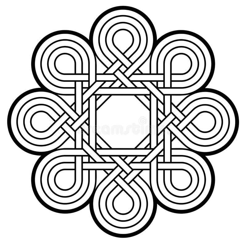 Emblema astratto dei cicli illustrazione di stock