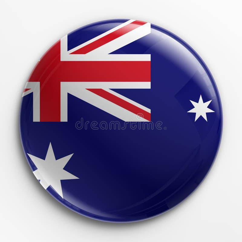 Emblema - bandeira australiana ilustração do vetor