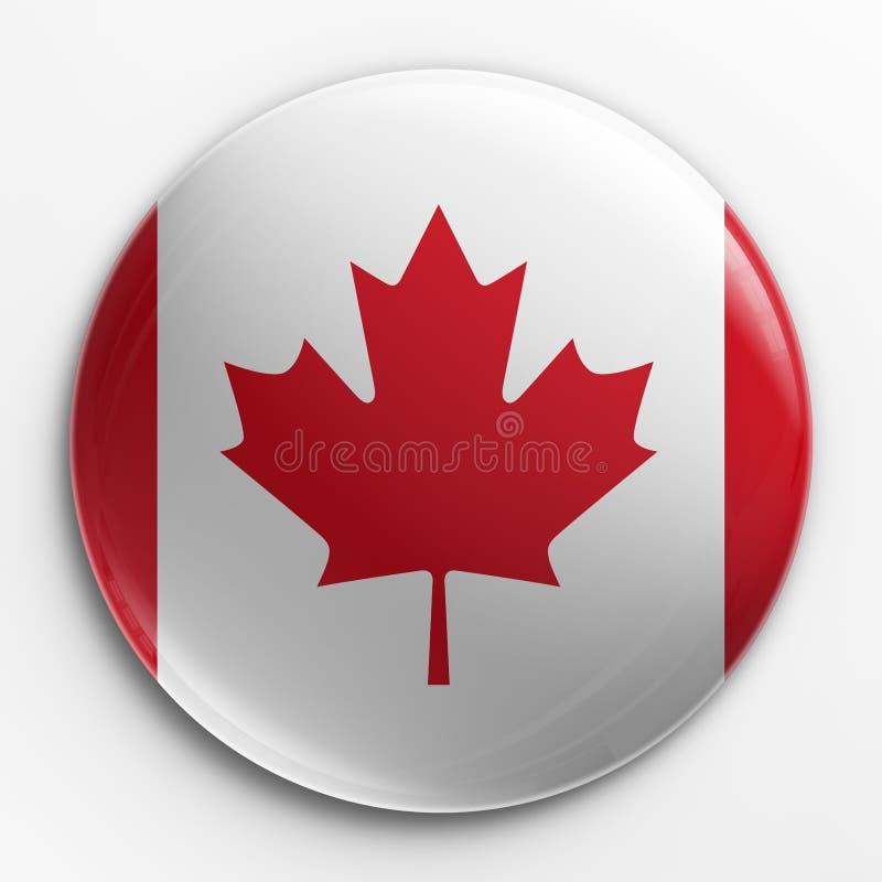 Emblema - bandeira canadense ilustração stock