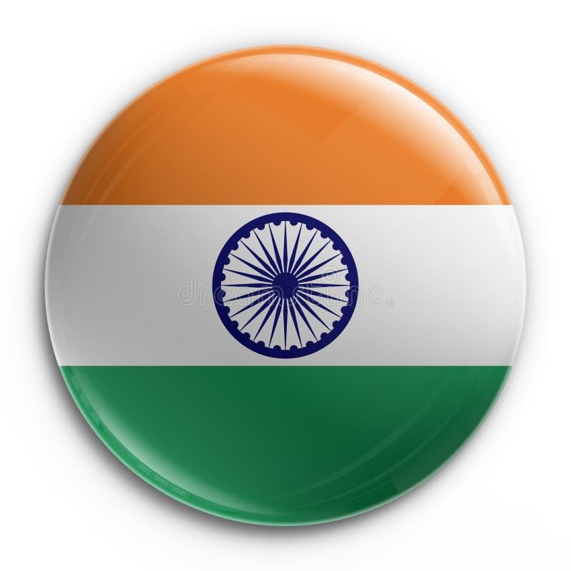 Emblema - bandeira indiana ilustração royalty free
