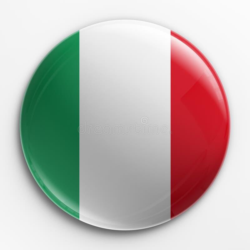 Emblema - bandeira italiana ilustração do vetor