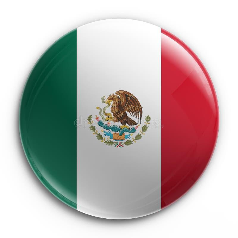 Emblema - bandeira mexicana ilustração stock