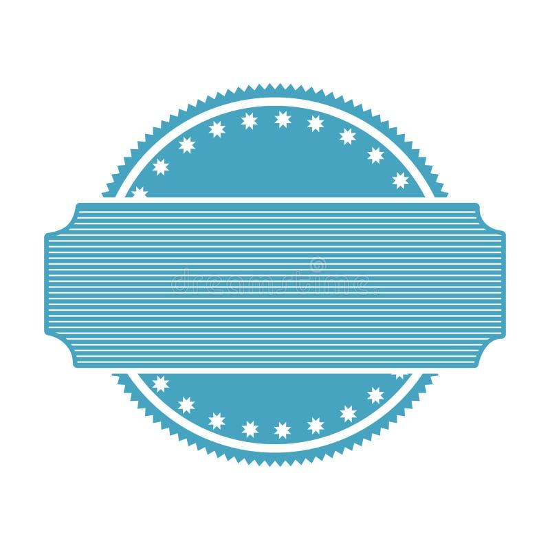 Emblema blu di deco di astrattismo del bollo con l'etichetta royalty illustrazione gratis