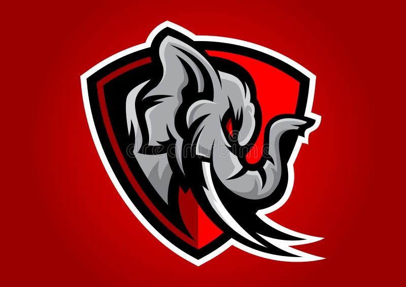 Emblema capo 201905 di vettore del logofootball dell'elefante fotografia stock