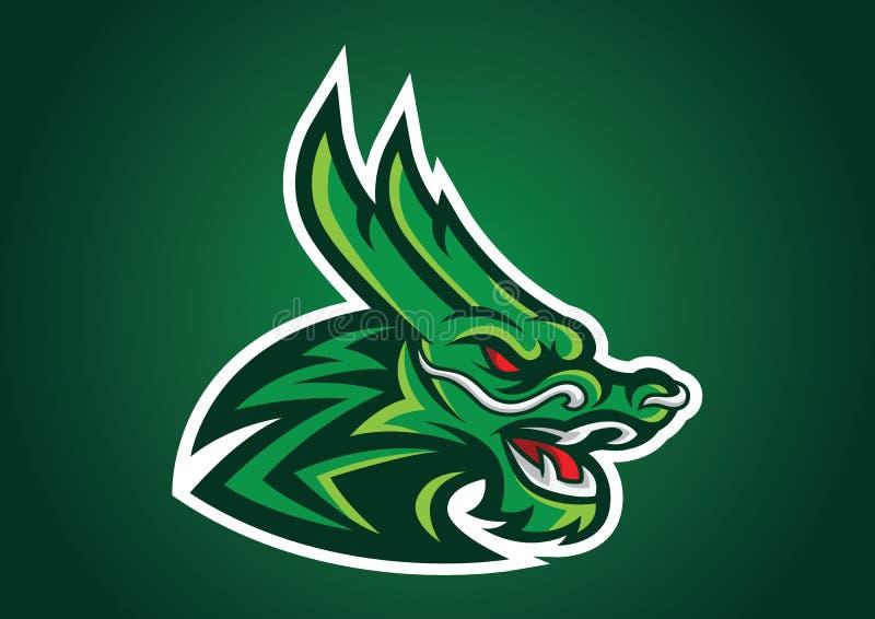 emblema capo di vettore di logo del logofootball del drago immagine stock libera da diritti
