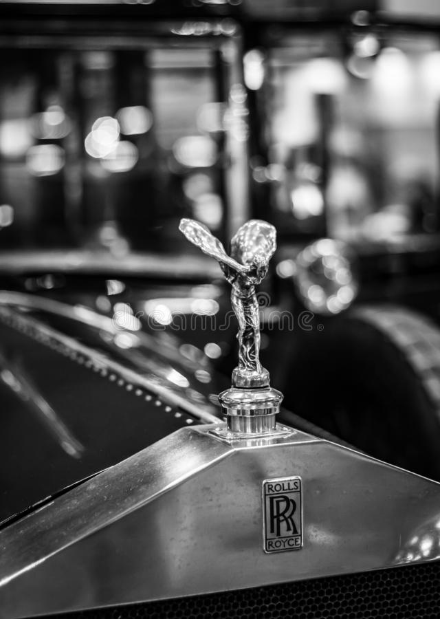 Emblema clássico abstrato de Rolls Royce imagens de stock