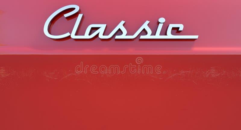 Emblema clássico do carro de Chrome ilustração stock