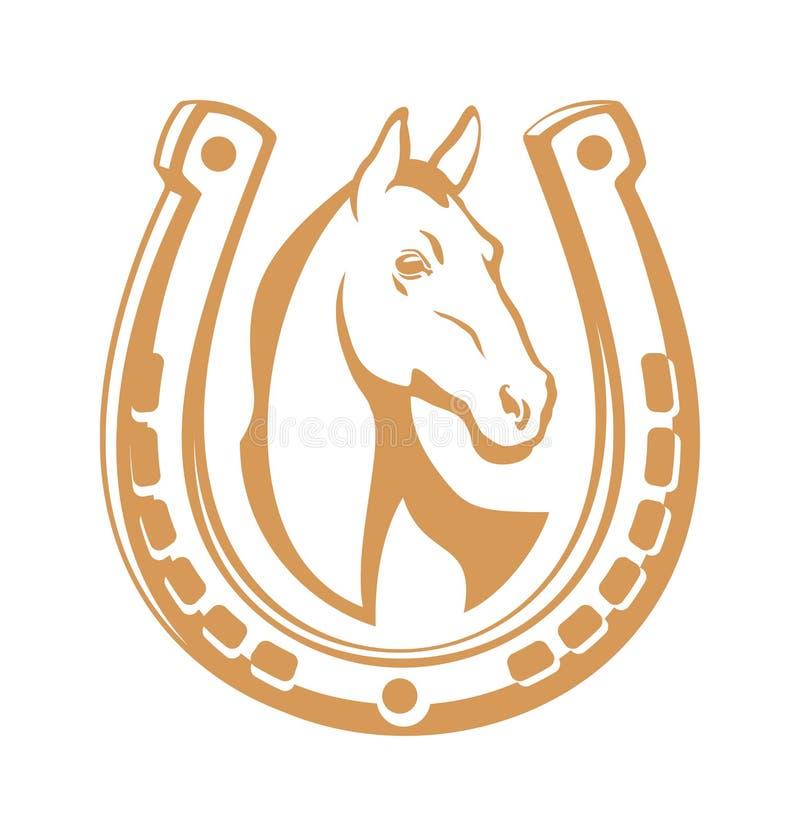 Emblema claro do cavalo ilustração stock