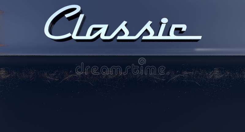 Emblema classico dell'automobile di Chrome illustrazione vettoriale