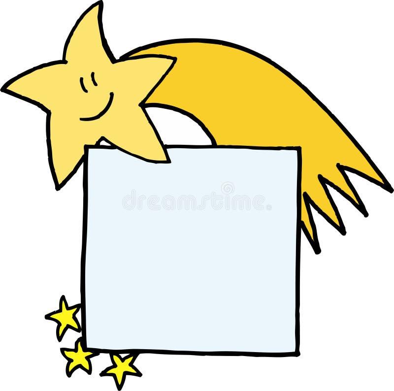 Emblema conhecido do cometa do Natal ilustração royalty free