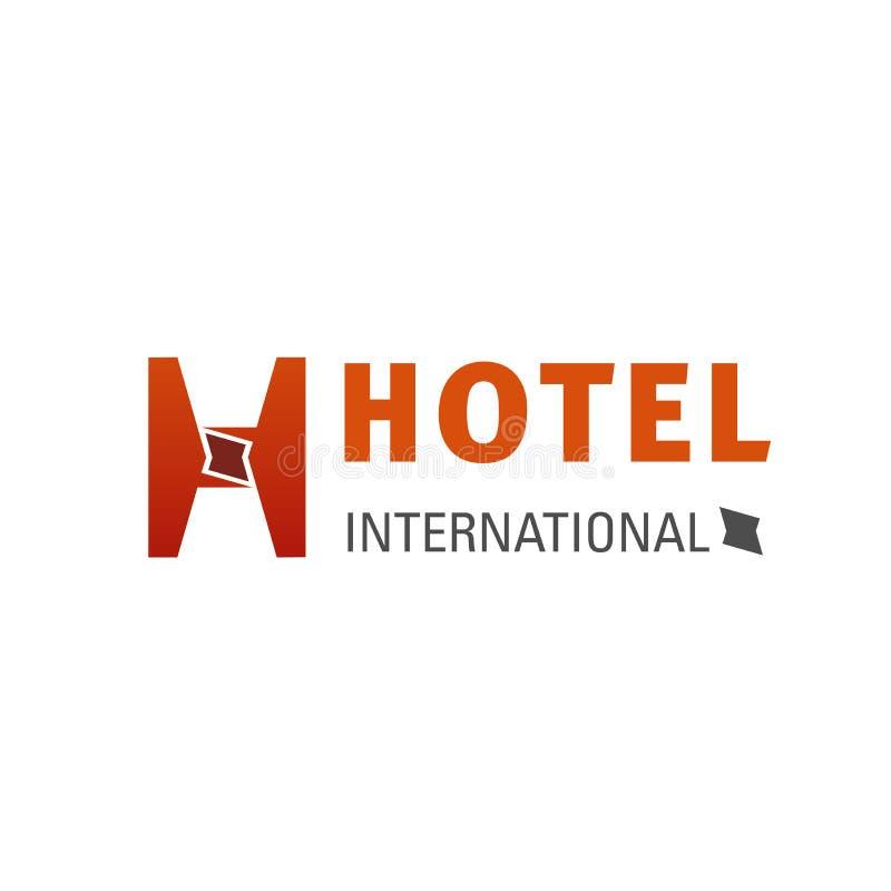 Emblema creativo del hotel internacional ilustración del vector