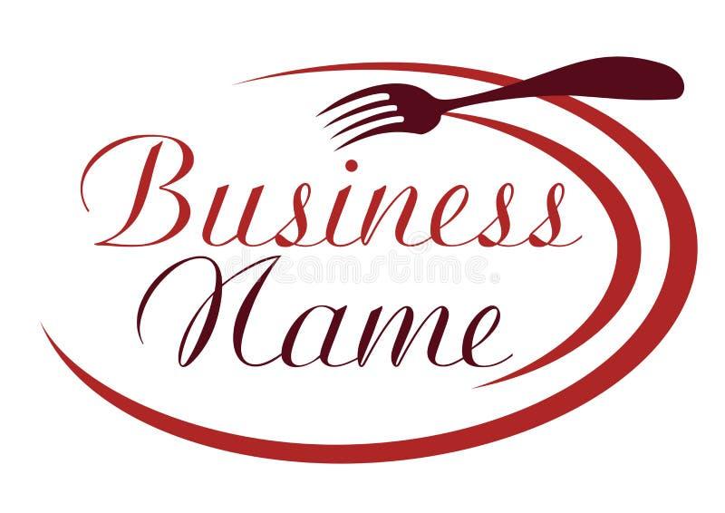 Emblema culinário, logotipo para o restaurante ilustração royalty free