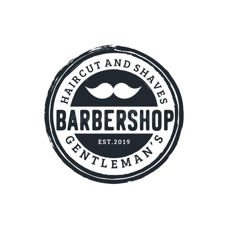 Emblema d'annata isolato del distintivo dell'etichetta del negozio di barbiere Illustrazione di vettore - L'archivio di vettore royalty illustrazione gratis