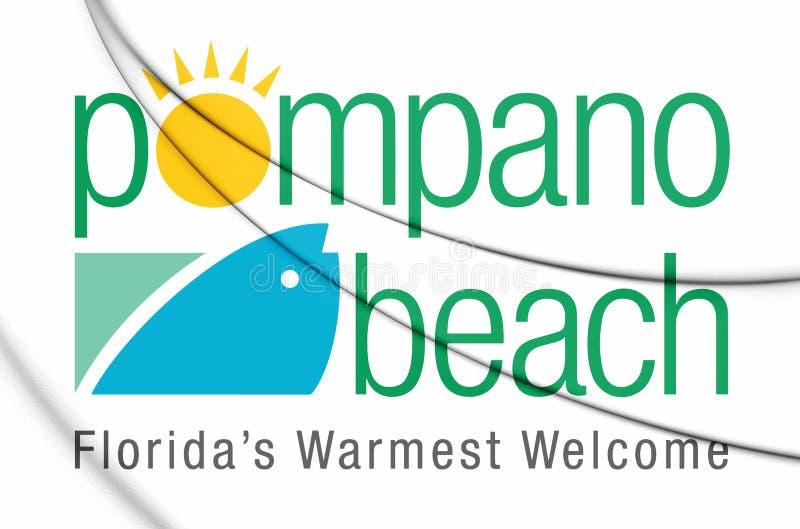 emblema 3D da praia Florida da palombeta, EUA ilustração do vetor