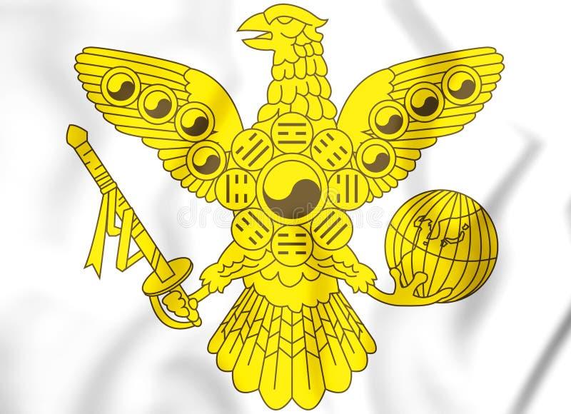 emblema 3D imperial do império coreano ilustração royalty free