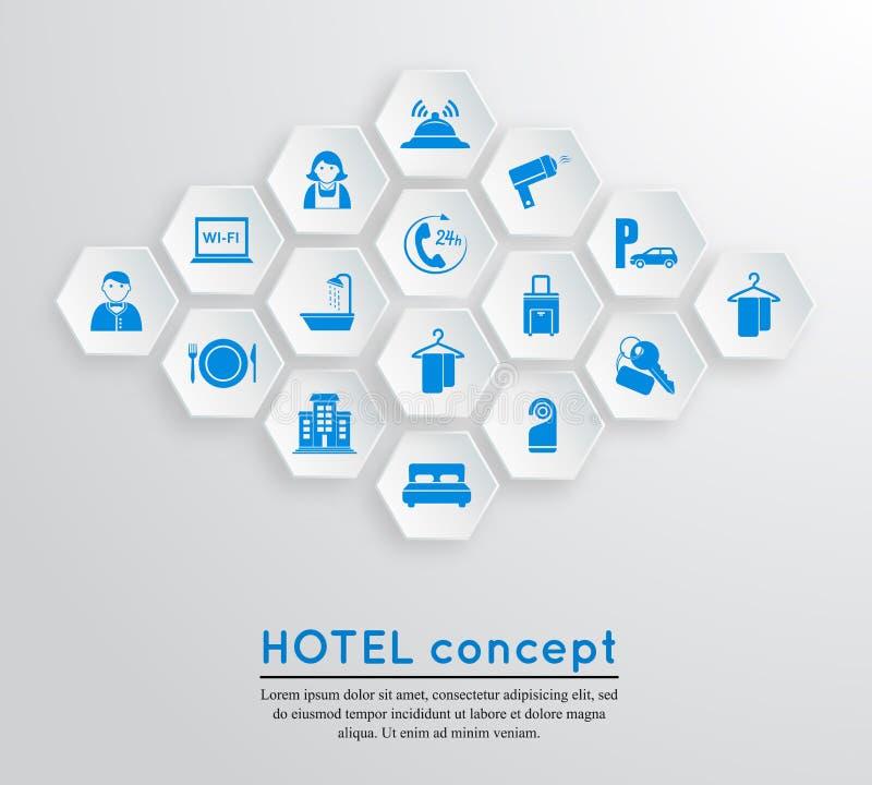 Emblema da acomodação do curso do hotel ilustração stock