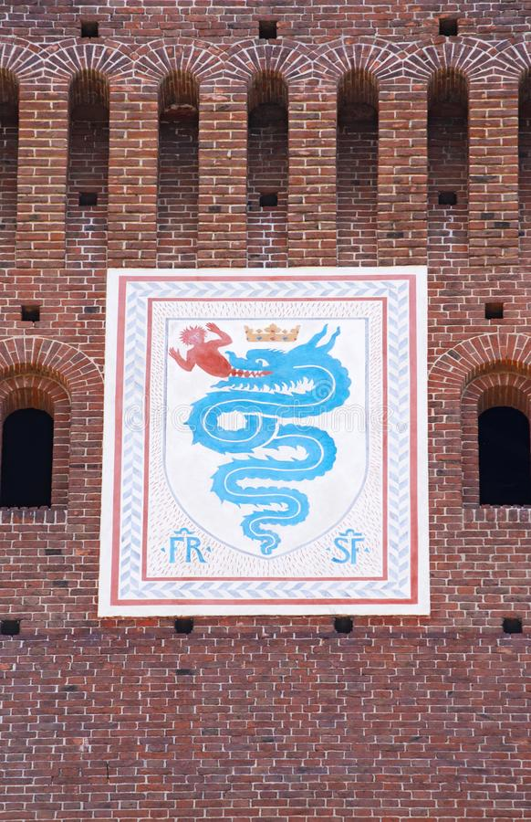 emblema da casa de Visconti imagens de stock royalty free
