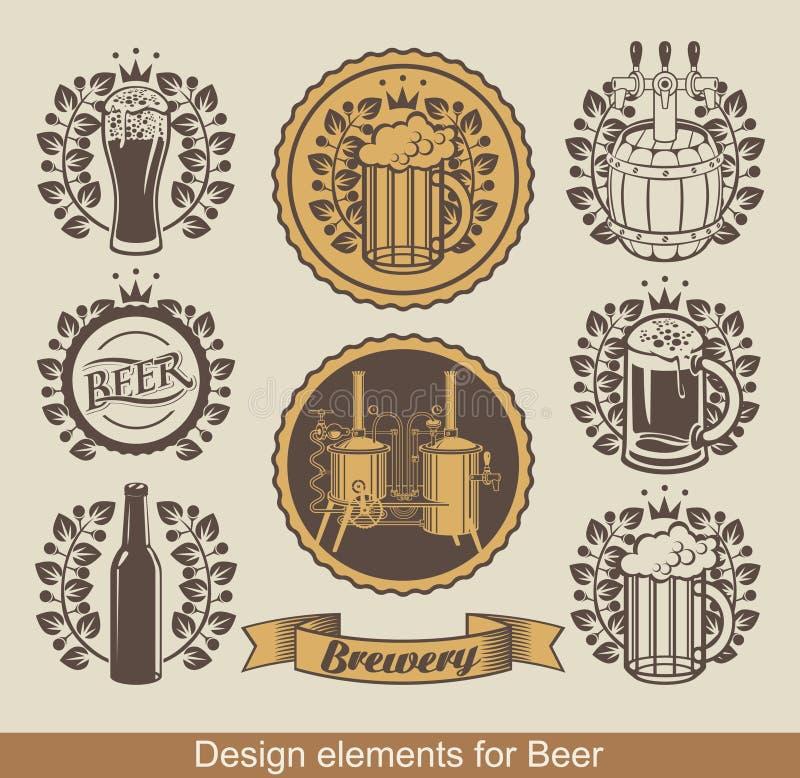 Emblema da cerveja ilustração do vetor