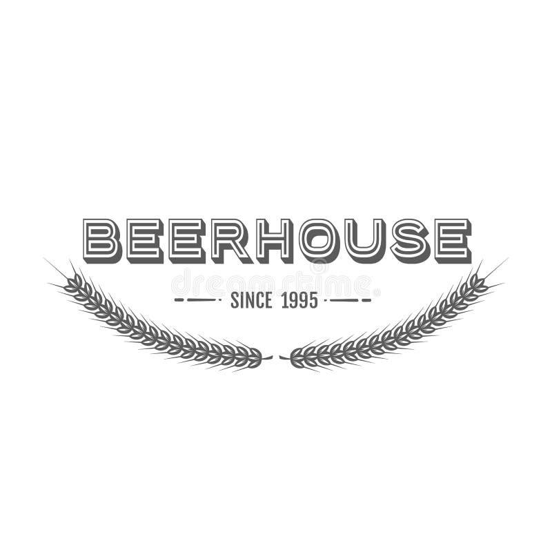 Emblema da cerveja do vintage ilustração do vetor
