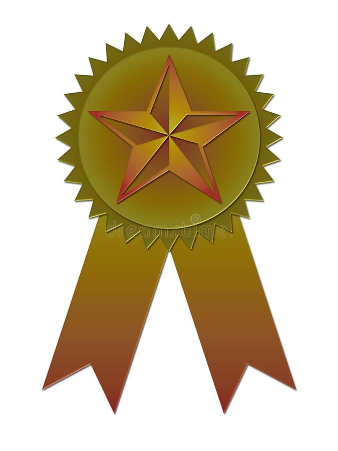 Emblema da concessão com fita ilustração stock