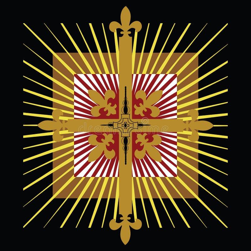 Emblema da cruz celta ilustração stock