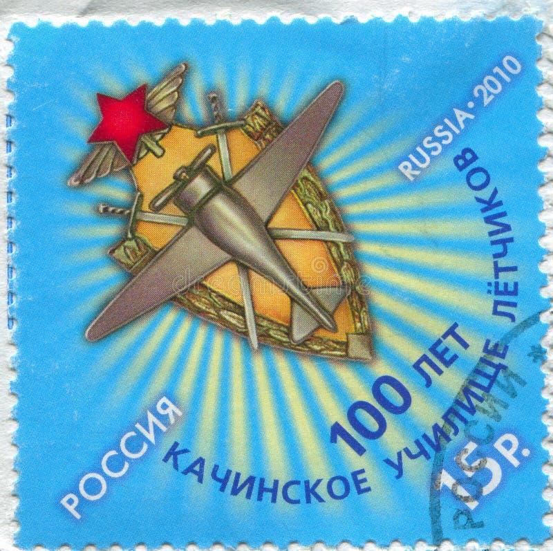 Emblema da escola da aviação de Kachino imagens de stock royalty free