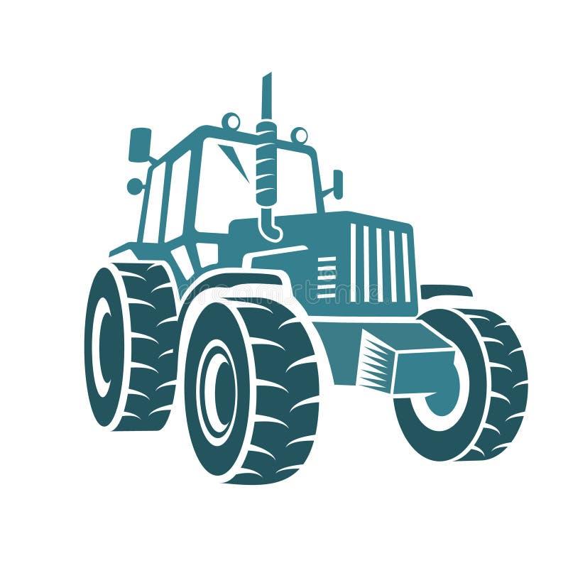 Emblema da exploração agrícola do trator ilustração stock