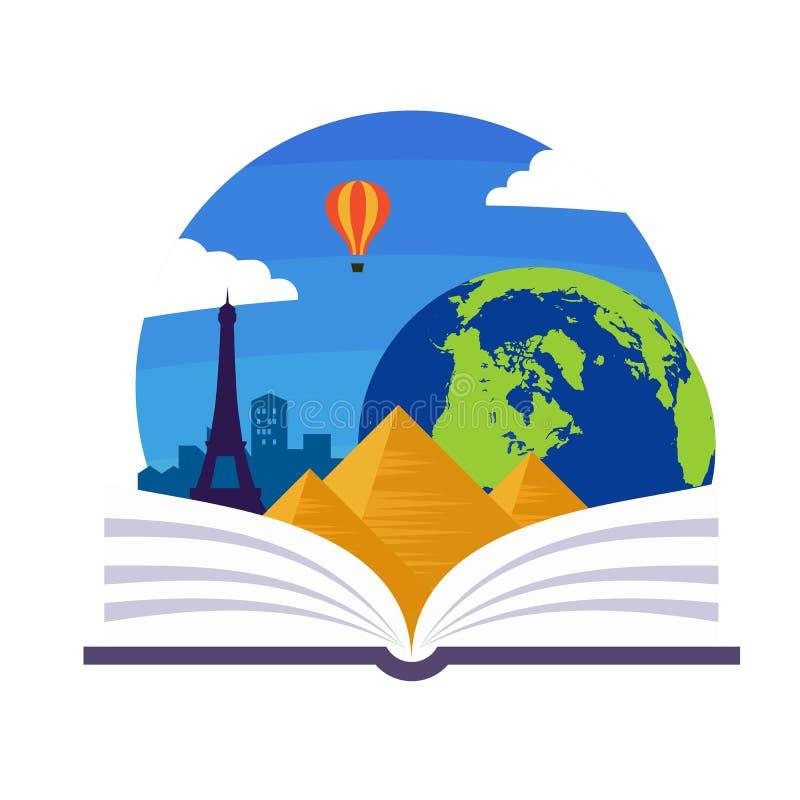 Emblema da geografia ilustração stock