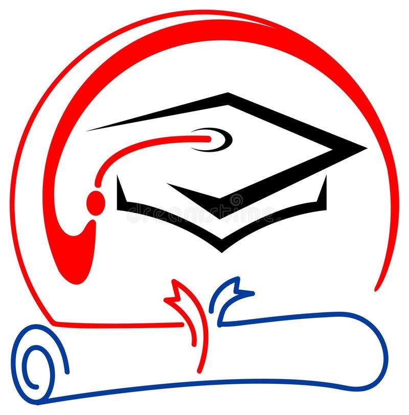 Emblema da graduação ilustração do vetor