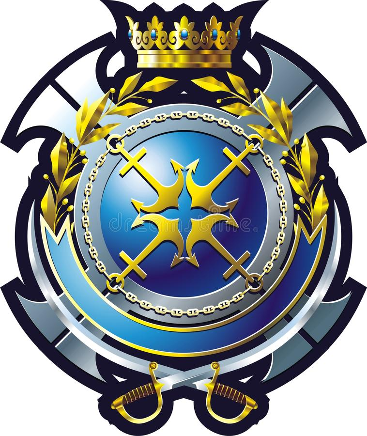 Emblema da MARINHA ilustração royalty free