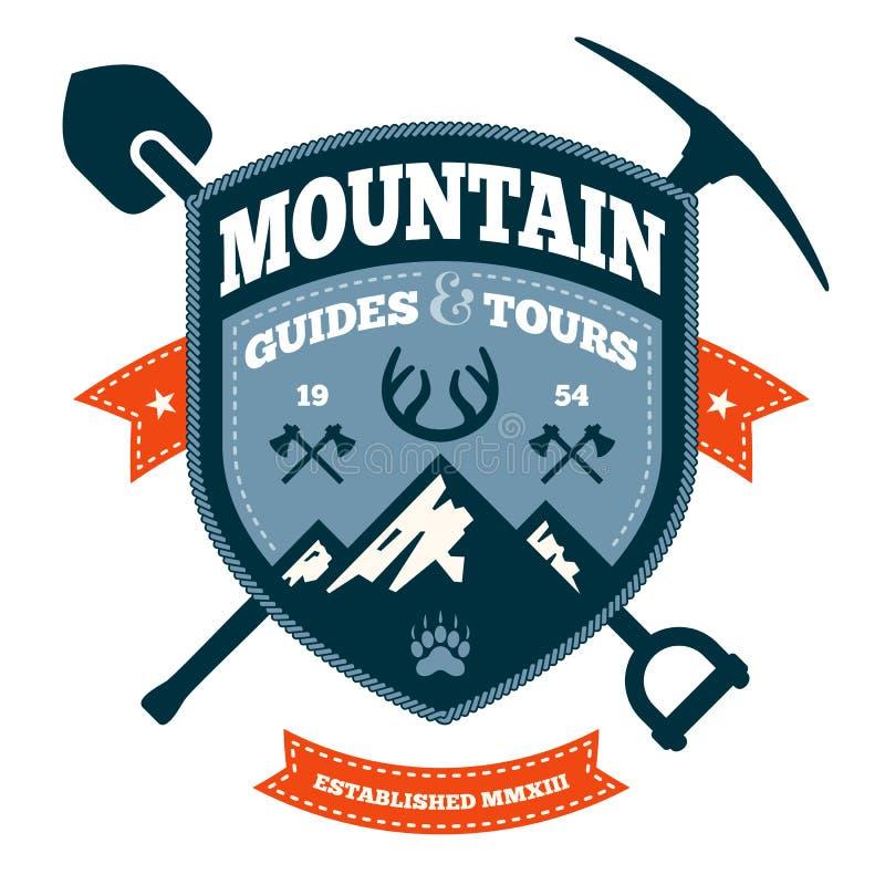 Emblema da montanha ilustração do vetor