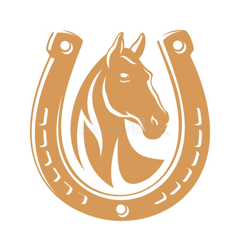 Emblema da obscuridade do cavalo ilustração royalty free