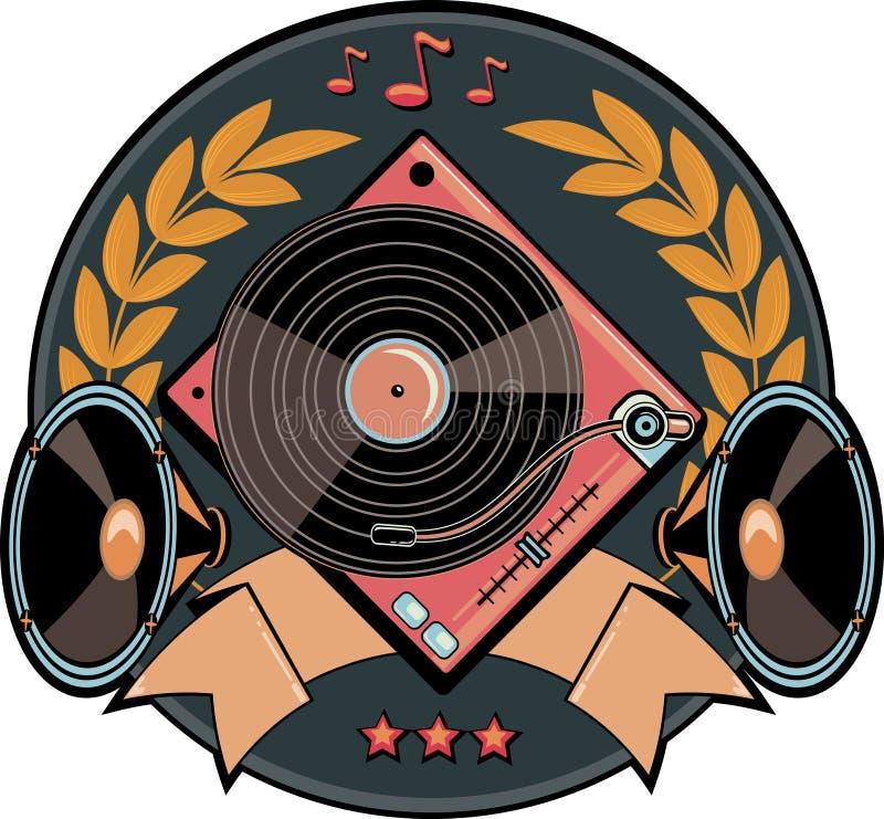 Emblema da plataforma giratória imagem de stock royalty free