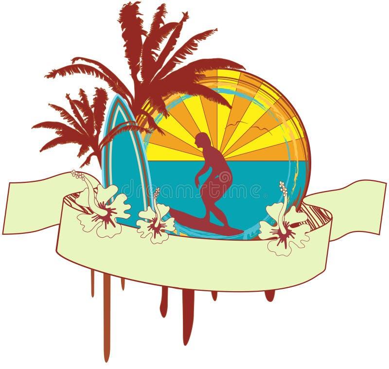 Emblema da ressaca ilustração royalty free