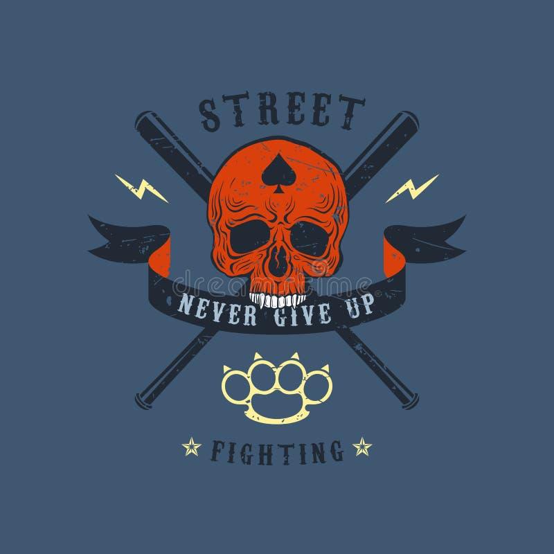 Emblema da violência nas ruas ilustração do vetor