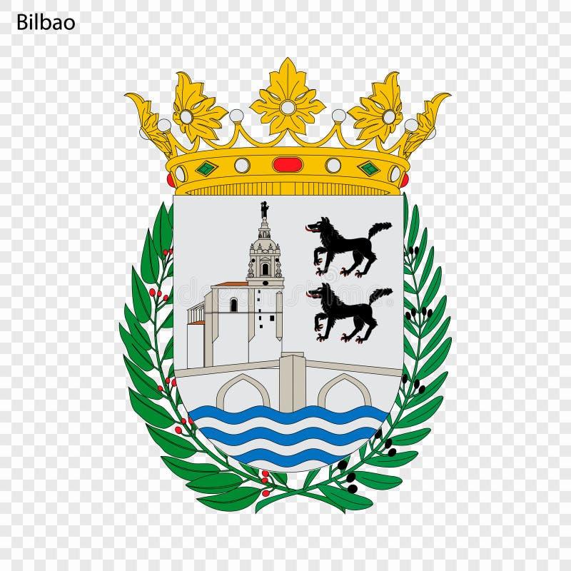 Emblema de Bilbao Cidade da Espanha ilustração do vetor