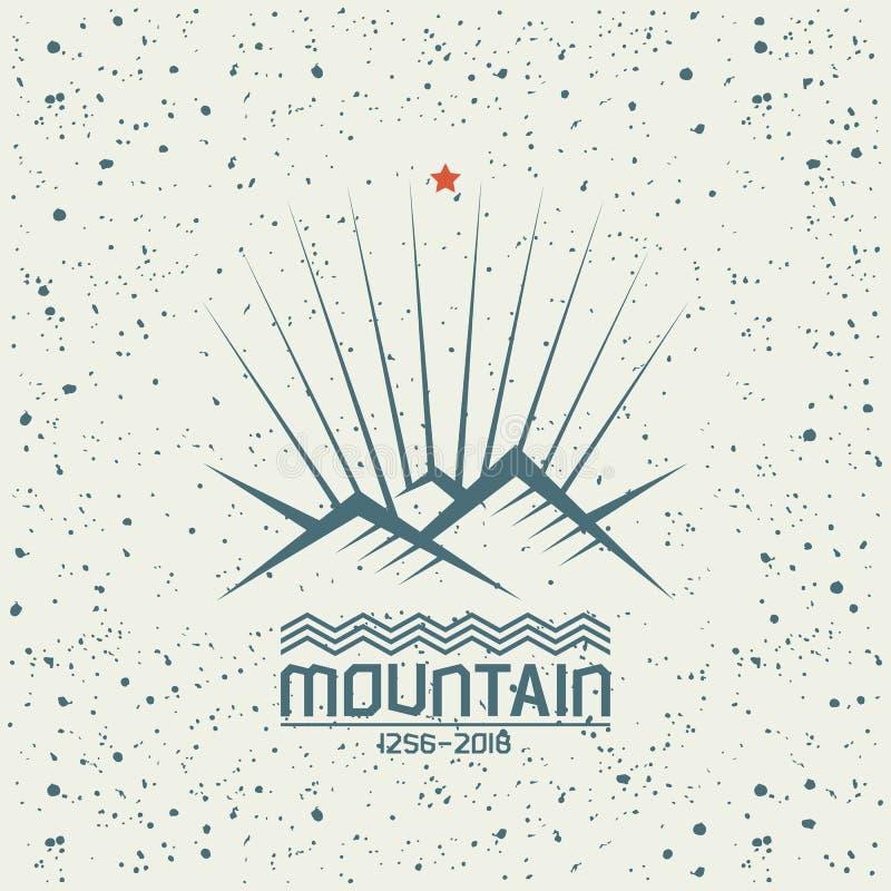Emblema de brilho da montanha ilustração stock