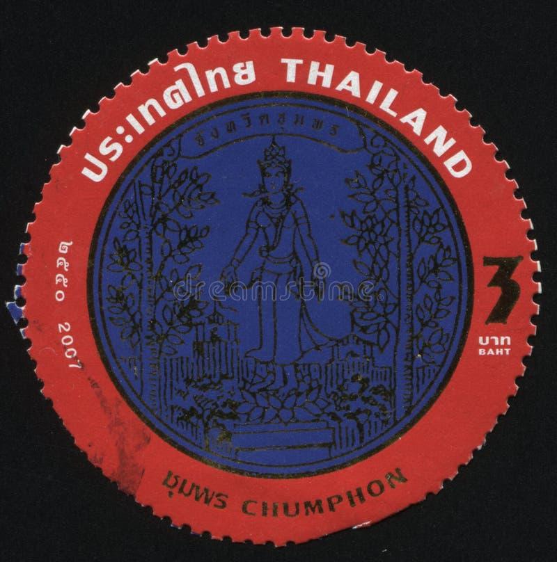 Emblema de Chumphon imagem de stock