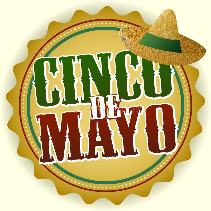 Emblema de Cinco De Mayo fotos de stock royalty free