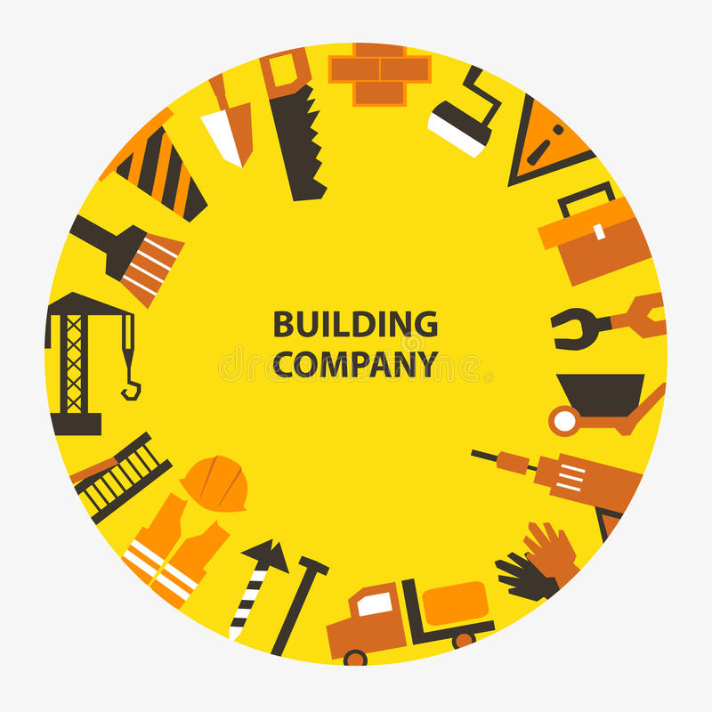 Emblema de compañía del edificio libre illustration