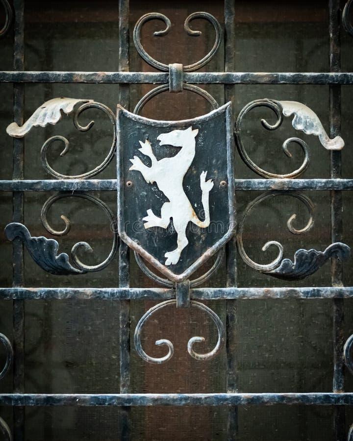 Emblema de Cres en blanco y azul con la decoración libre illustration