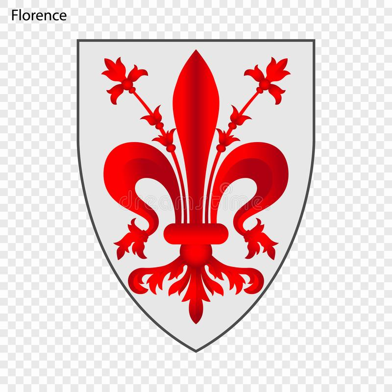 Emblema de Florencia ilustración del vector