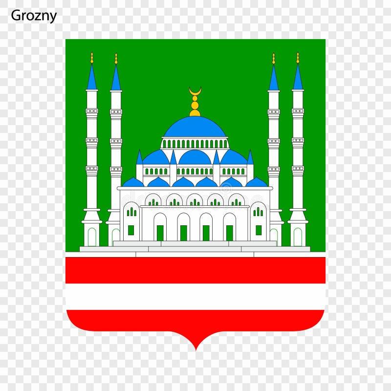 Emblema de Grozny ilustração stock
