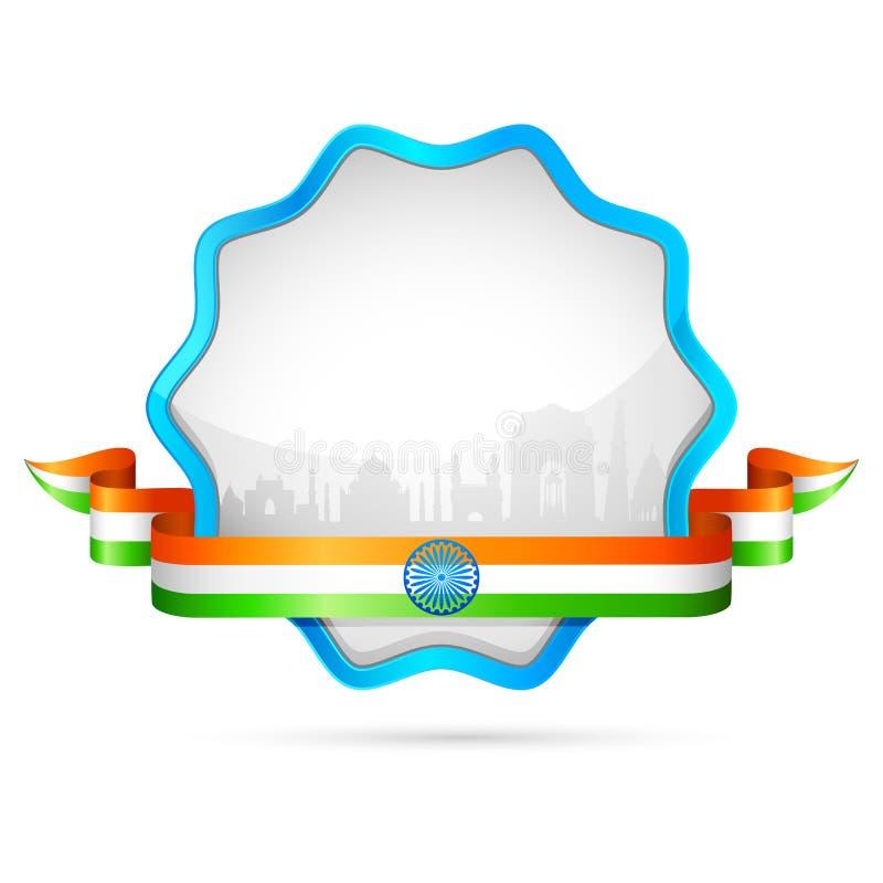 Emblema de India ilustração stock