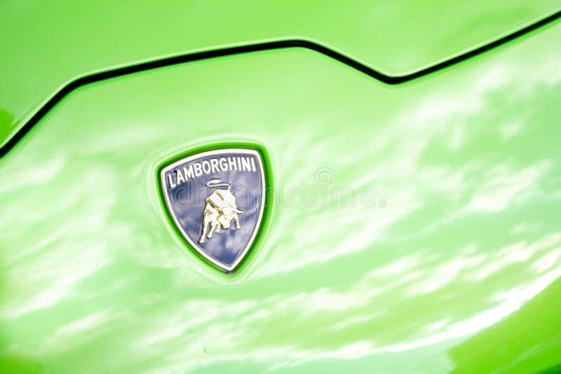Emblema de la capilla de Lamborghini imagen de archivo libre de regalías